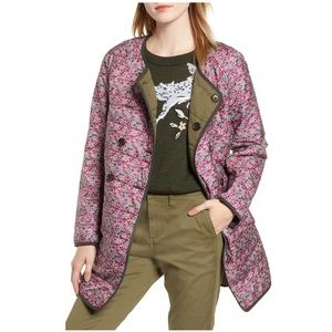 J Crew Floral Catesby Reversible Puffer Jacket